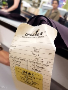 Plum (Raisin) silk taffeta from Dressew in Vancouver BC for $19.99 /meter