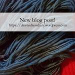 Shetland top handspun wool hand dyed with indigo