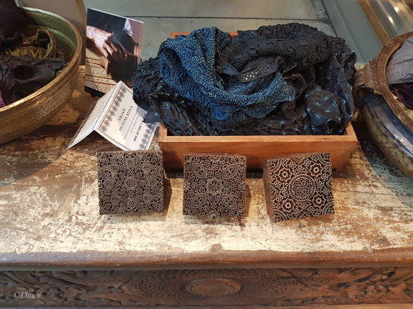 A few wood blocks for block-printing for sale - but nothing like what Maiwa Handprints in Vancouver used to have for sale