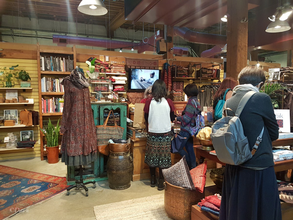 Maiwa Handprints in Granville Island also has beautiful natural fibre clothing, mostly block printed and/or hand-woven