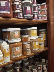 Just some of the natural dyes for sale at Maiwa Supply
