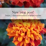 new blog post on Dawn's Dress Diary on dyeing with aster and marigold flowers