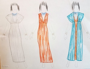 initial sketch looking at options for my Egyptian costume