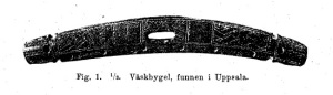 Find from Uppsala Sweden speculated to be a handle from a Viking Age bag.