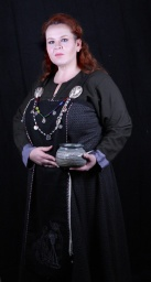 Photo credit ©Mysticus Photography - my new embroidered apron panel along with other elements of my Viking Age Norse wardrobe