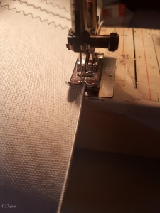 sewing millinery wire on the buckram with a sewing machine zig zag stitch