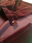 red velvet skirt cut up for my new horned hennin