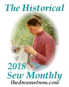 Historical Sew Monthly 2018 logo. Click to visit the Dreamstress site.