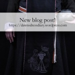 Promo image for my Viking embroidered Apron panel blog post