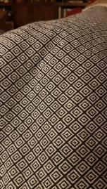 Diamond twill like fabric in black and white - from the 2018 Grandmother's charity fabric sale in Calgary