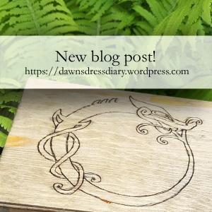 Woodburned / pyrography Viking Age inspired bling box