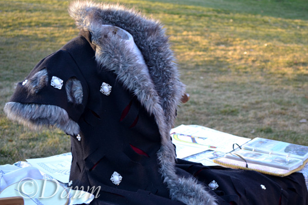 Costumes, scribal arts, and photos at the Ghoul's Night Out display at Heritage Park