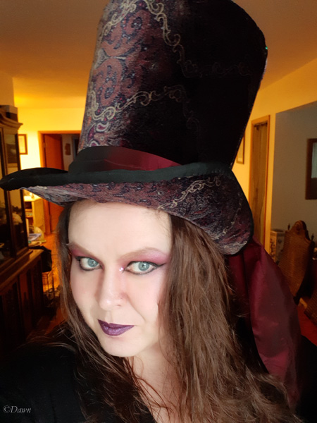 A Mad Hatter style hat for a costume party