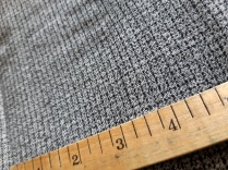 Fine checked grey and black fabric