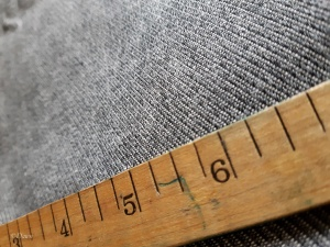 Black and white twill cotton blend fabric