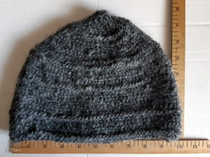 Ribbed naalbound cap for sale made with 100% Icelandic wool