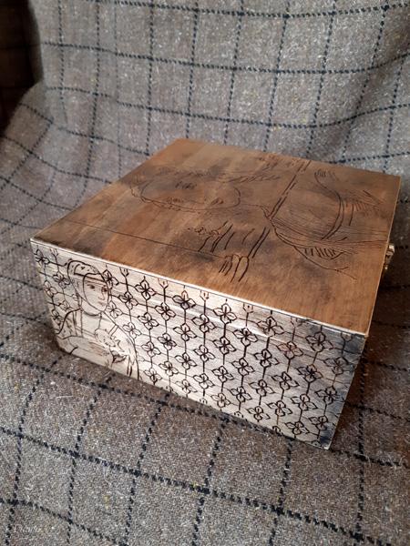 Italian Renaissance themed Pyrography box