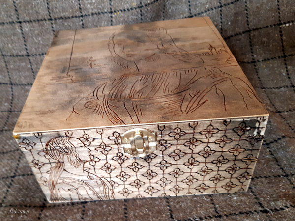 Italian Renaissance themed Pyrography box