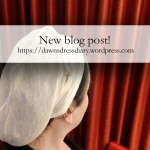 Read more about my St. Birgitta's cap on Dawn's Dress Diary