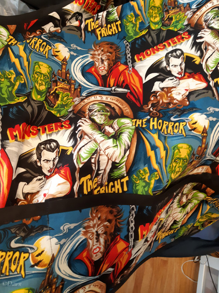 movie-monster print fabric