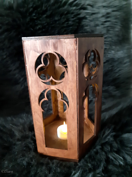 Finished medieval-style lantern / candle holder