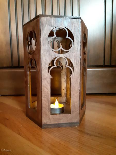 Finished medieval-style lantern / candle holder