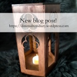 Finished medieval-style lantern / candle holder. Visit Dawn's Dress Diary to learn more.