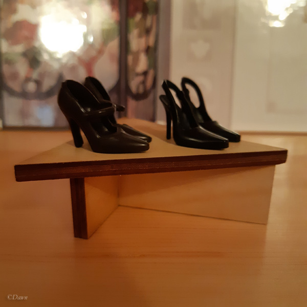 Small triangular shelf for my friend's doll display