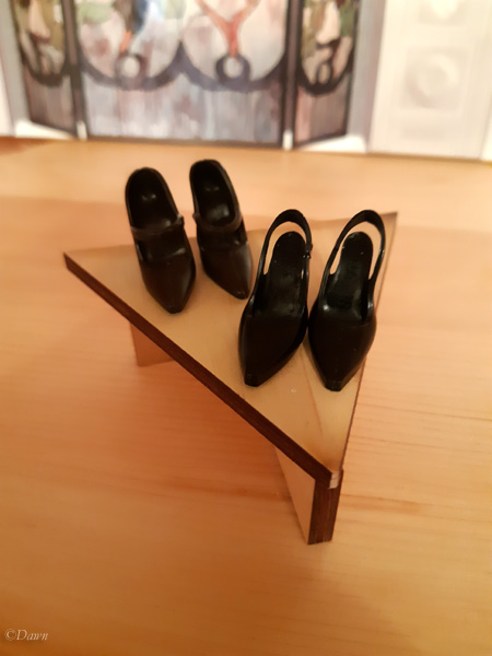Small triangular shelf for my friend's doll display