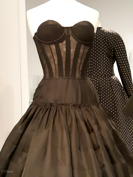 Audacieuse, a day dress by Dior on display at the Glenbow Museum.