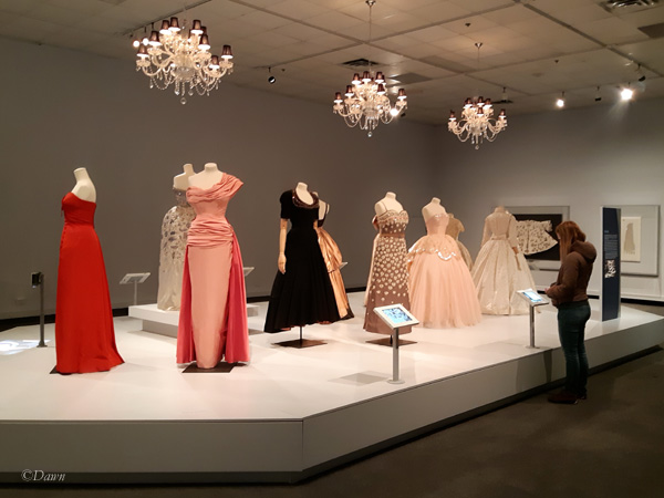 The Dior gown room