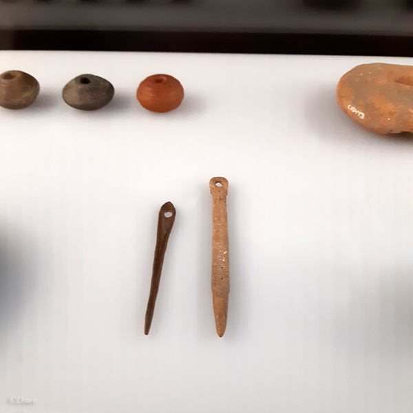 Viking age needles, spindle whorls, and loom weights from the RAM exhibit