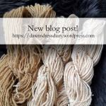 Using rhubarb as a dye and mordant on handspun wool yarn - Dawn's Dress Diary