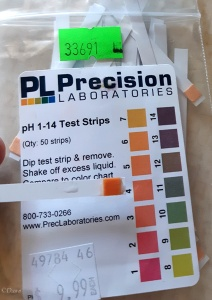 pH testing of the woad solution before adding the alkaline solution to shift the pH