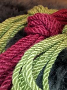 Handmade bamboo-silk rope