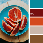 https://colorpalettes.net/ palette with teal, orange, red, tan, and brown