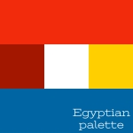 Egyptian palette of colours