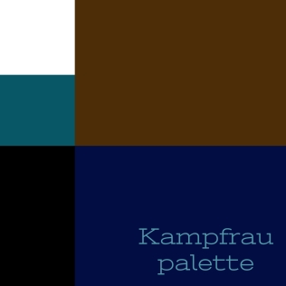 Colour palette with black, white, navy, brown, and teal from spark.adobe.com