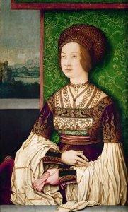 Bianca Maria Sforza by Bernhard Strigel
