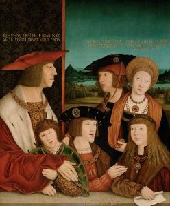 Emperor Maximilian I and his family, Bernhard Strigel
