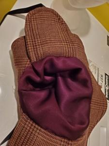 Lining inside my witchy Sherlock hat