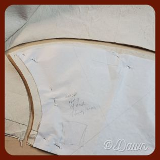 Cutting the interlining out of cotton canvas