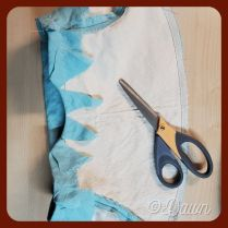 securing the hem of the lining into the inside of the interlining