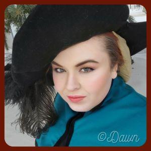 Black Dockenbaret worn with a Goldhaube & Gollar