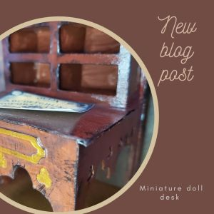 Miniature gothic writing desk
