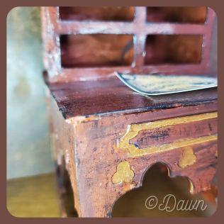 Miniature gothic writing desk