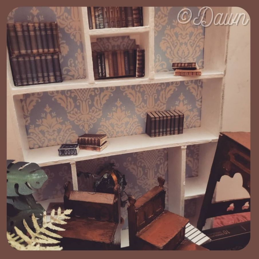 Miniature doll furniture made for my friend for Christmas 2020