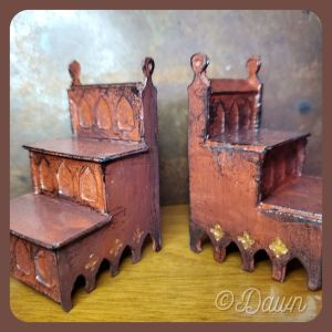 miniature library (or bed) steps for my friend's holiday gift