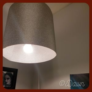 A new drum shade for my pendant lantern