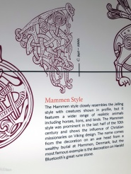 A mural illustrating different art styles in Scandinavia throughout the Viking Age